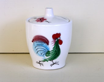 Rooster Covered Sugar Bowl Le Chanticlaire Napco 1962