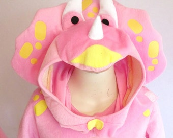 Pink Dinosaur Toddler Costume By Seasons USA Inc. Sauquoit, NY - What A Delightful Display of Detail and Quality.  Sera Top Special,