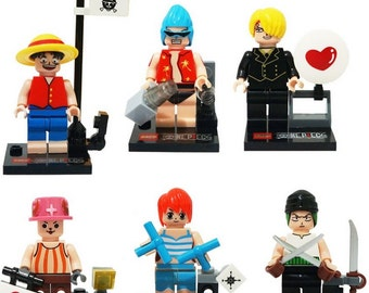 Lot of 6 figures Lego One Piece customized