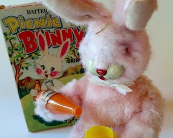 Battery Operated Picnic Bunny
