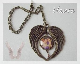 """A large pendant necklace """"Cherubs"""""""