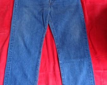 Vintage 501 jeans faded worn blue  36x30