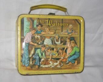 vintage 1973 aladdin the waltons metal lunchbox