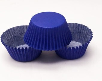 48 Royal Blue Greaseproof Paper Standard Size Cupcake Liners Baking Cups