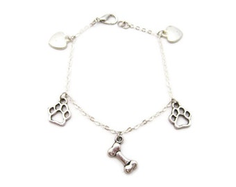 Dog Charm Bracelet Puppy Charm Bracelet Pet Parent Bracelet Dog Bracelet Dog Jewelry I Love My Dog ,Dog Lovers Jewelry Puppy Love Bracelet