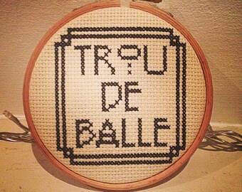 """PATTERN- French """"A**hole"""" Cross Stitch Pattern Art Deco"""