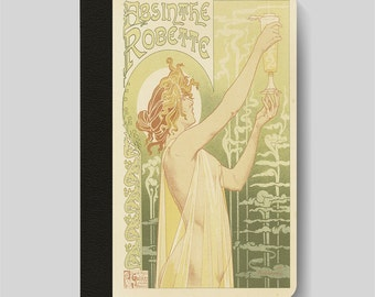 iPad Folio Case, iPad Air Case, iPad Air 2 Case, iPad 1 Case, iPad 2 Case, iPad 3 Case, iPad Mini 1 2 3 4 Absinthe Robette art nouveau case