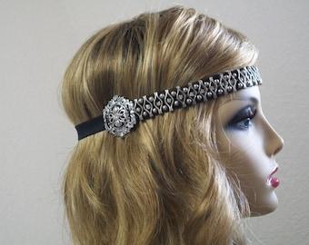 Renaissance Headband, Bohemian Headband, Festival, Medieval costume, 1920s Headband, Great Gatsby, Music Festival, Renaissance