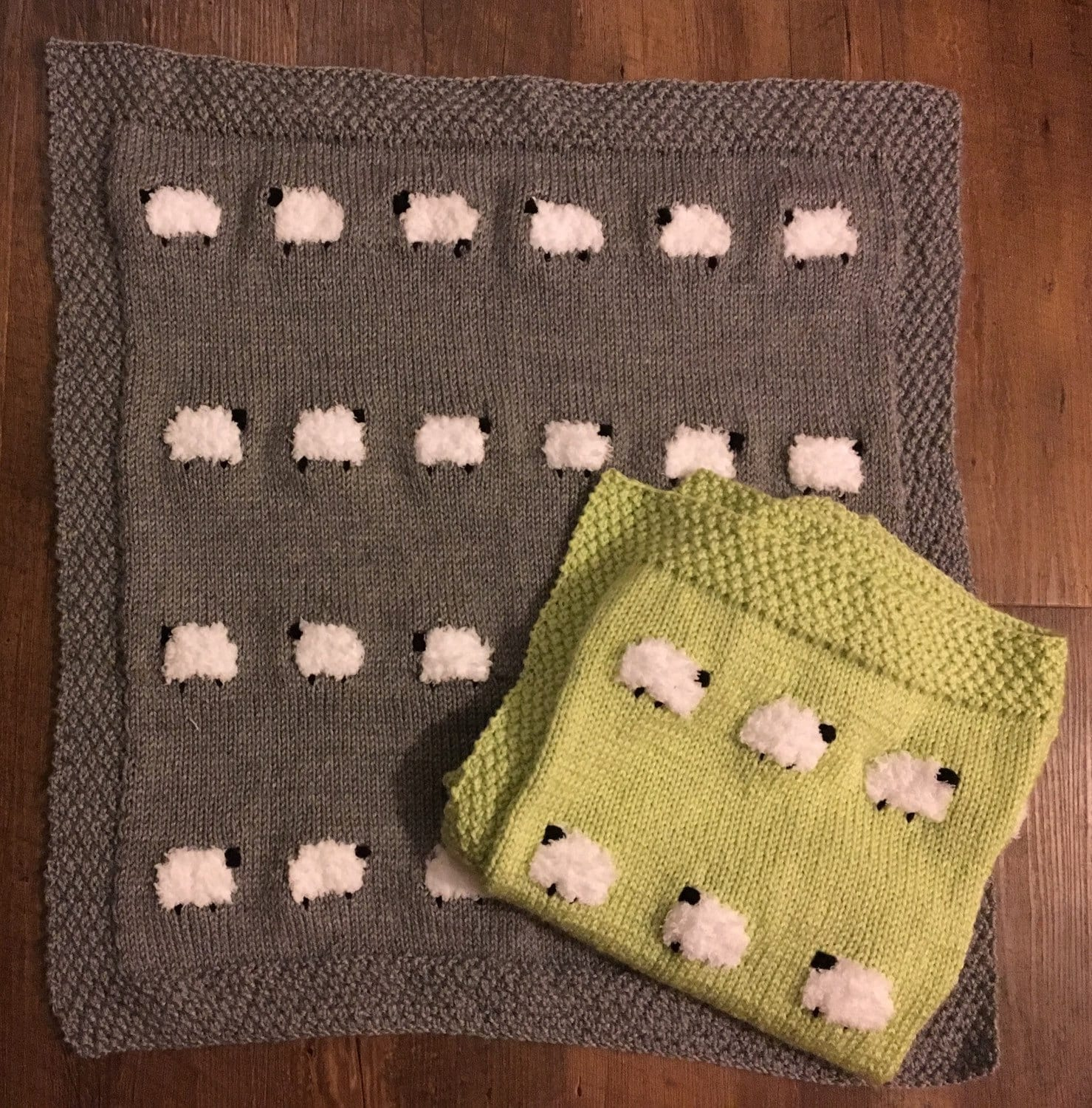 Sheep baby blankie sheep baby blanket knit sheep blanket