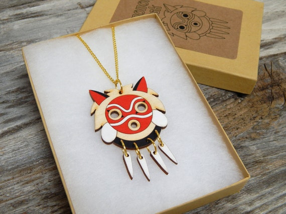 Mononoke Mask necklace