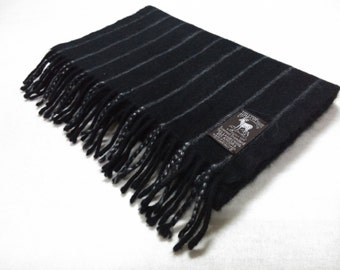 Vintage Hilltop Lambswool Angora Neck Wrap Muffler Made In Scotland