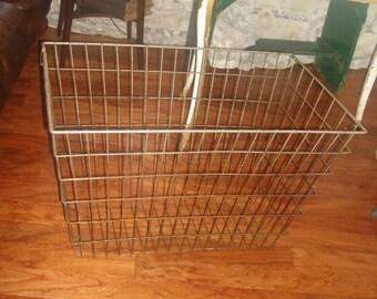 CLEARANCE SALE antique large  wire basket industrial storage basket vintage extra large wire basket