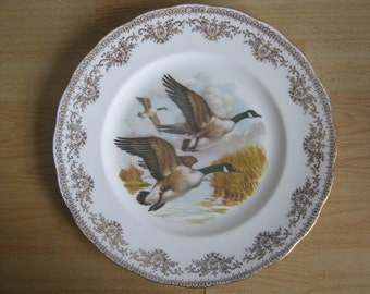 Vintage Gainsborough China Plate picturing Ducks in Flight
