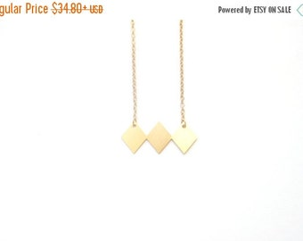 SUMMER SALE Geometric rhombus necklace, geometric necklace, tiny necklace,Unique rhombus necklace, bib necklace, statement necklace