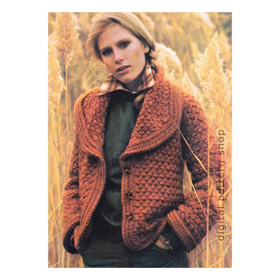 Knitting Pattern Womens Sweater Coat Pattern By