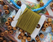 Macrame Cord Green Gold Jewelry Cording Twisted Nylon DIY Jewelry String Bracelets Necklaces Mala kumuhimo Craft Crochet Cord Nylon Thread