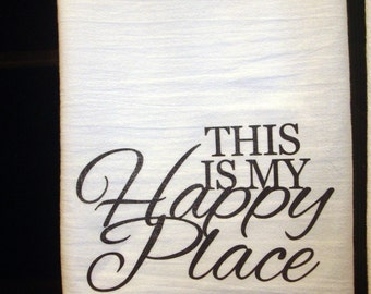 This is my happy place towel