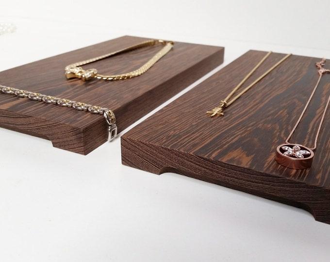 2 Jewelry Boards Flat Display Jewelry Storage Wooden Jewel Organiser Handmade For Craftshow And Shopwindow