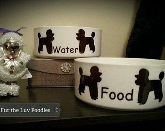 Standard Poodle Dog Bowls