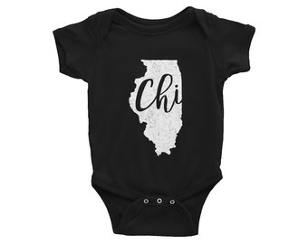 CHI Onesie // Chicago Baby // Illinois Bodysuit // Baby Shower Gift