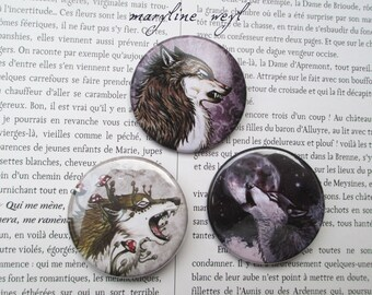 3 pins pins pins Wolf werewolf