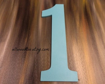 First Birthday Number One Photo Props For Kids Wooden Numbers Hand Painted Wood Number Photo Props for Birthdays Bedroom Decor