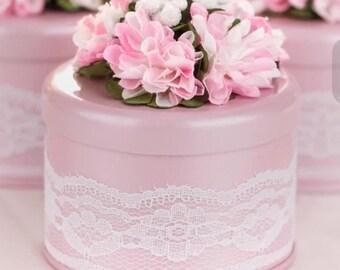 25 Wedding Favor Candy Boxes & Satin Ribbon Bridal Shower Favor, Baby Shower, Wedding Gift Box, Party Favor, DIY Wedding Favor