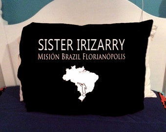 Mission Missionary Pillowcase Missionary Gift includes Map  AVAILABLE for ALL MISSIONS