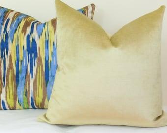 Citrine velvet throw pillow cover 18x18 20x20 22x22 24x24 26x26 28x28 Euro sham green Lumbar pillow 12x20 12x24 14x26 16x24 16x26 16x36