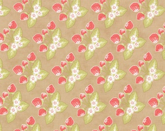 Strawberry Fields Revisited Fabric - One yard - Fig Tree & Co. - Moda Fabrics  - Stock No. 20264-17