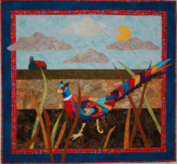 Bj designs patterns pheasant under grass by for Bj custom designs