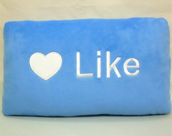 Like Icon Pillow, Decorative Pillow, Throw Pillow, Cushion Cover, Pillow Case, Like