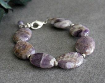 Amethyst Bracelet, Amethyst Bead Bracelets, Purple Bracelet, Purple Bead Bracelet, February Birthstone Bracelet, Amethyst Gemstone Bracelet