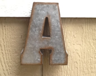 You Choose Letter / Industrial Metal Letter /  Rustic Metal Initial Letters /