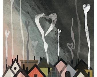 Chimneys Rejoice Print, 8.5x11