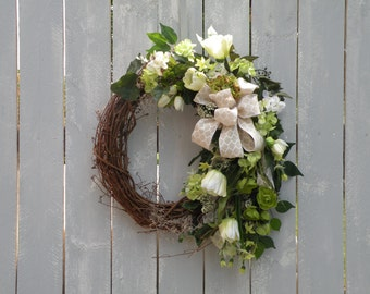 Summer Wreath, Designer Wreath, Front Door Wreath, Home Decor