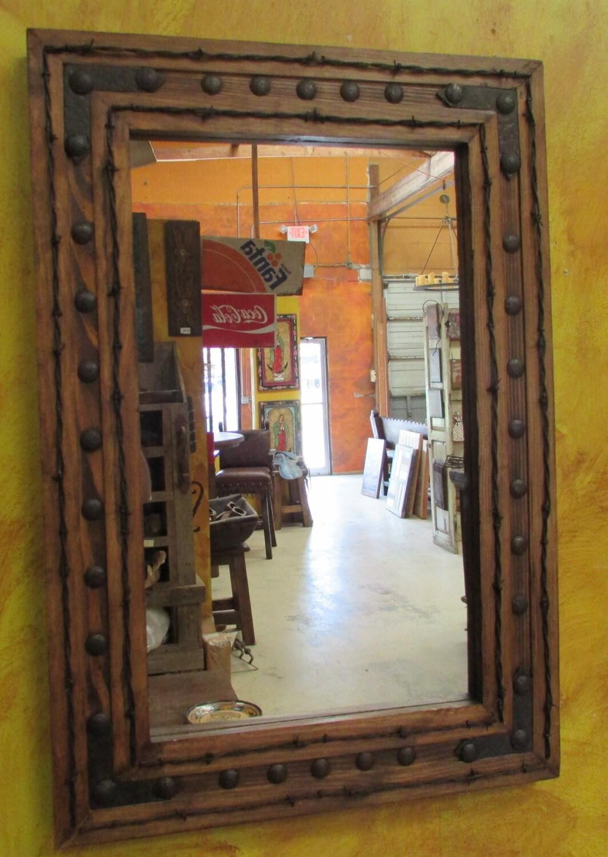 Rancho Adobe Rustic Mirror 36x36 By Ranchoadobe On Etsy
