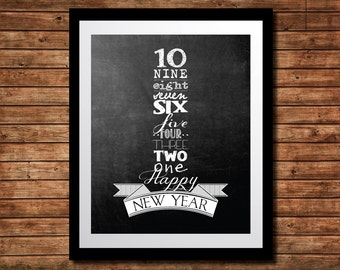 New Years Eve Countdown Printable