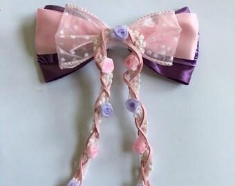 Rapunzel inspired, Disney Tangled Hair Bow
