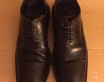 Vintage Gucci Cap Toe Oxford Men's Brown Leather Shoes 8 E