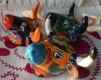 3 Talavera  small Cow's head