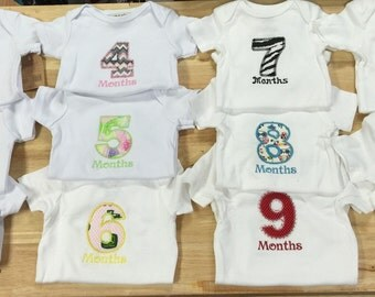 Onesie  set 1 through 11 months we can do boys also