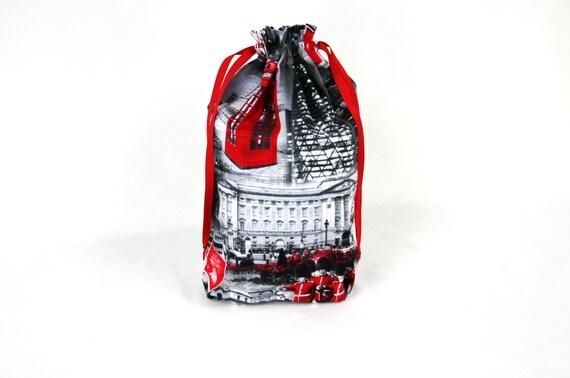 Wedding Gifts London: London Drawstring Shoe Bag Laundry Bag Bridesmaid Gift