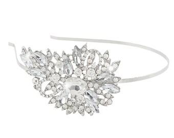 Wedding hair accessories Wedding hair piece Rhinestone headband Bridal headpiece Side tiara Bridesmaids hairpiece Flower girl prom head band