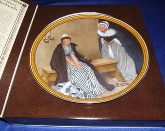 Knowles * Rockwell's Colonials Plate #2 Words of Comfort *