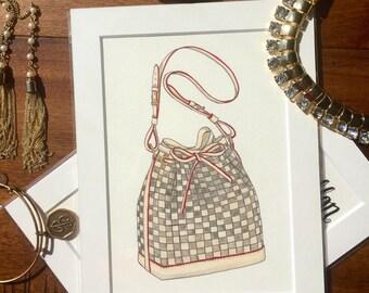 Louis Vuitton Handbag Painting