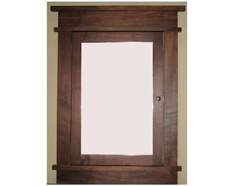 Period Style Medicine Cabinet Walnut or Cherry Hardwood