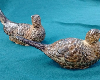 Grouse figurines, ceramic no markings