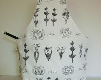 All Around Knitting Project Bag Wrist Style medium Large Size Botanical