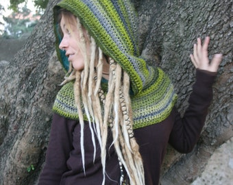 NEW Pixie of the Forest Hood in virgin wool